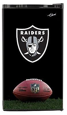 NFL Oakland Raiders Top Refrigerated Beverage Center, 3 cu. ft., Black