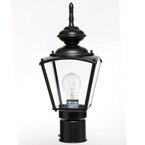 Boston Harbor 4691820 1-Light Post Coach Lantern, Black ()