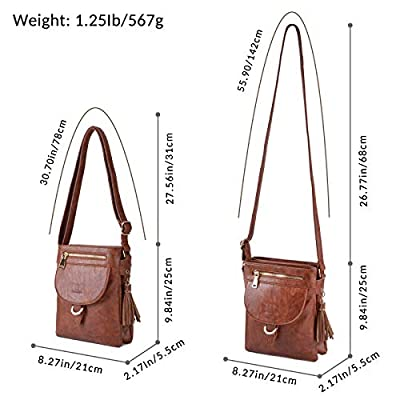 Leather Crossbody Bags for Women, Fanspack Ladies Crossbody Purse Over the Shoulder Bag Small Messenger Bag
