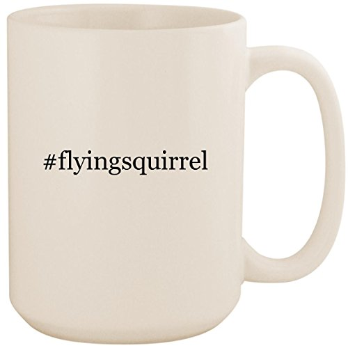 #flyingsquirrel - White Hashtag 15oz Ceramic Coffee Mug Cup