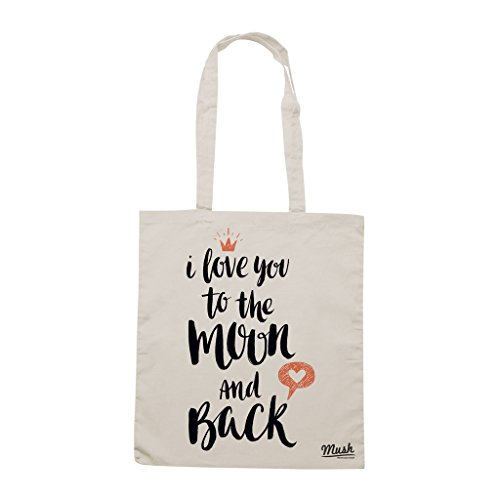 Borsa I LOVE YOU TO THE MOON AND BACK - VALENTINE'S DAY - Sand - MUSH by Mush Dress Your Style