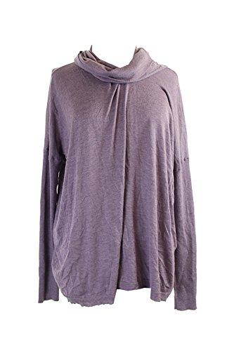 Lauren Ralph Lauren Purple Cowl-Neck Silk-Blend Sweater XL