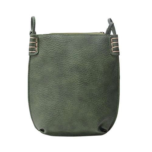 For Crossbody Retro Handbag Messenger Bag Gray Zipper For Shoulder Women Women Green Girl Bag Leather Bag NXDA qC11P
