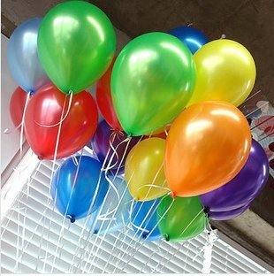 PAVILIA Balloons (144 Pieces), Assorted Colors, 12