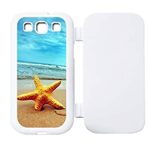 Beach Starfish Protective Leather Rubber Flip Cover Case for SamSung Galaxy S3