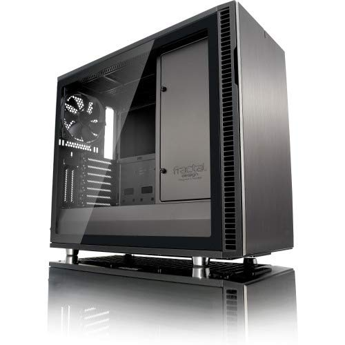 Fractal Design FD-CA-DEF-R6C-GY-TGL Computer Case Define R6 USB-C Gunmetal TG No Power Supply ATX Mid Tower with Window
