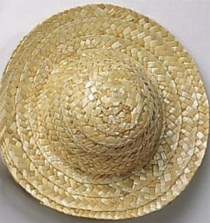 f70c968675c Image Unavailable. Image not available for. Color  3 quot  Straw Hats (Pack  of 12) Doll size.
