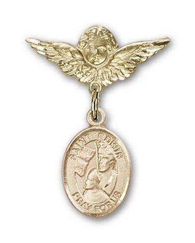Icecarats Or Bijoux De Créateurs Rempli R. Edwin Charme Ange Broche De Badge 1 X 3/4