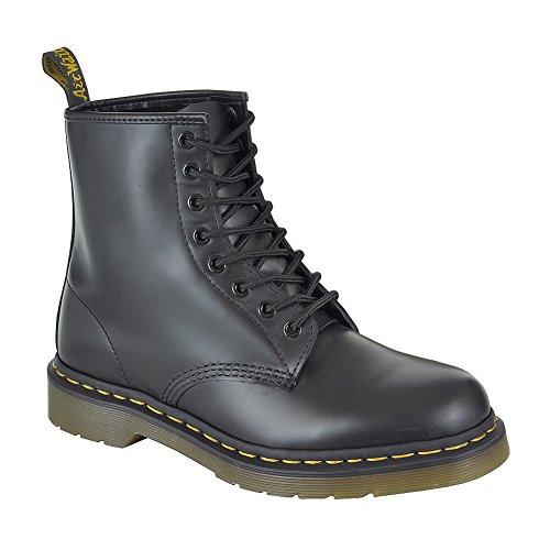 NUEVO Dr Martens 1460Z–Zapatos de piel Botas De Superior de PVC–Bicicleta de montaña Negro - negro