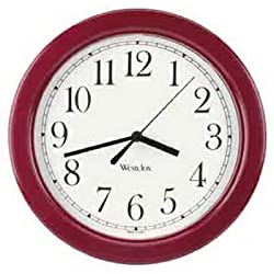 WESTCLOX 46983 9 Decorative Wall Clock (red)
