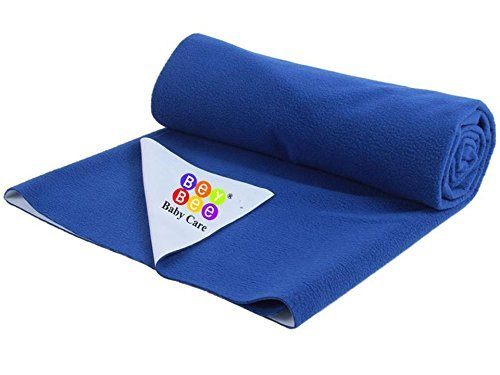 Premium Hypoallergenic Quick Dry Waterproof Reusable Mat  Underpad  Absorbent Sheets  Mattress Protector  Crib Sheets  Size  70Cm X 50Cm     28 X19   Royal Blue Small By Bey Bee
