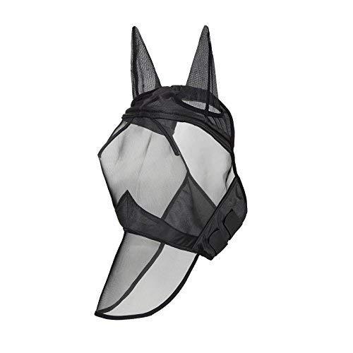 Harrison Howard CareMaster Fly Mask Full Face Piano Black (M; Cob)