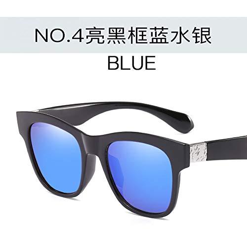 et UV400 mercury de pour Lunettes blue Lunettes Femmes black Soleil Bright anti de Hommes de Soleil Soleil frame Tendance Burenqiq Lunettes carrées zPnXX1q