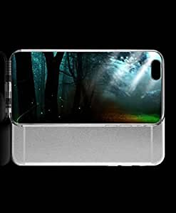 Janmaons iPhone 6 Case - Digital Art Colorful Lights In The Forest Case 9kjoY for iPhone