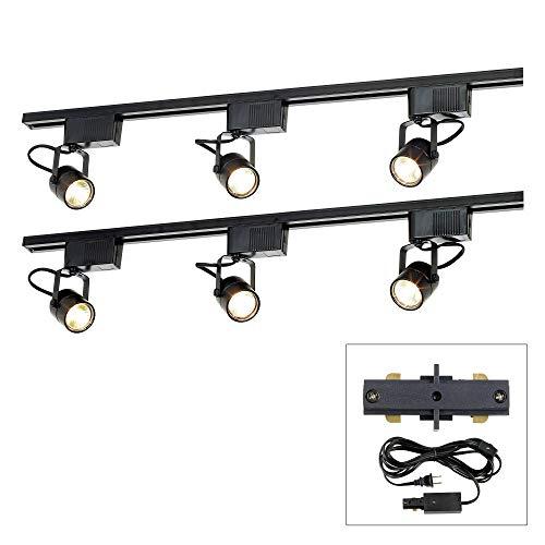 (Pro Track Black 300W 6-Light LV Plug-in Linear Track Kit - Pro Track)