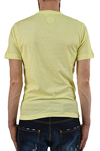DSQUARED2 Men's T-SHIRT Skater Fit Art Rush Yellow - Size: XS