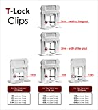 """T-Lock 1/32"""" (1mm) 250 Clips"""" PERFECT LEVEL"""