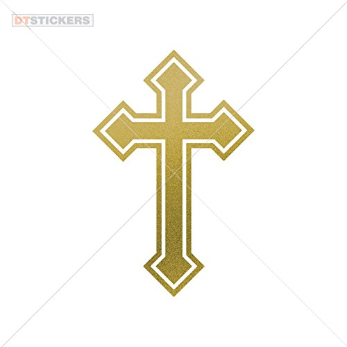 - Decoration Vinyl Sticker Vinyl Christian Cross Symbol Vinyl Art Decoration Motorbike (9 X 5,91 In. ) Matte Metallic Gold