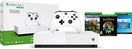 Amazon.com: Xbox One S 1TB All-Digital Edition Console (Disc ...
