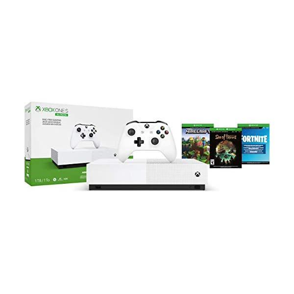 Xbox One S 1TB All-Digital Edition Console (Disc-Free Gaming) - Discontinued 2