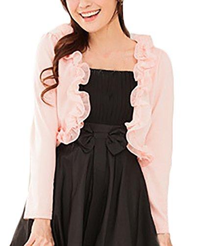 Colore Cappotto Manica Donne Abbigliamento Elegante Donna Solido Corti Taglie Rosa Ragazza Lunga Cardigan Di Bolero Forti Piccolo Casual BZqgzwazW5
