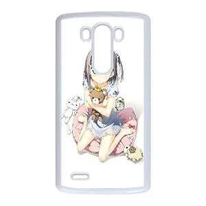 Tsukiko Tsutsukakushi 3 993 Lg G3 cubierta de la caja blanca del teléfono celular de la cubierta del caso EVAXLKNBC07220