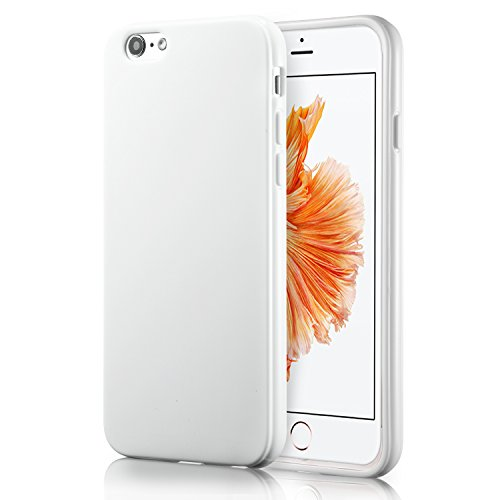 White Back Case - iPhone 6S White Case, technext020 Shockproof Ultra Slim Fit Silicone TPU Soft Gel Rubber Cover Shock Resistance Protective Back Bumper for iPhone 6 White