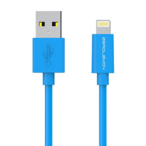 ZEROLEMON Apple MFi Certified iPhone Charger, PVC Blue, 6