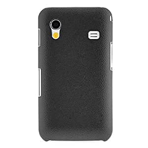 LIMME- ships in 48 hoursLeather Grain Hard Case for Samsung Galaxy Ace S5830 (Assorted Colors) , Black