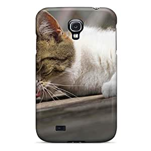 Slim Fit Tpu Protector Shock Absorbent Bumper Cat Hight Qaulity Wallpaper Case For Galaxy S4