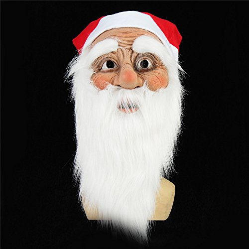 QOJA christmas party home decoration santa claus face mask with