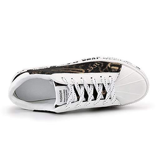 atléticas Caminan Deporte de cómodos de de de los Aire Que Ocasionales Deporte Respirables Ligeras Zapatillas Tenis Gold Hombres de Zapatillas U7xFqOw