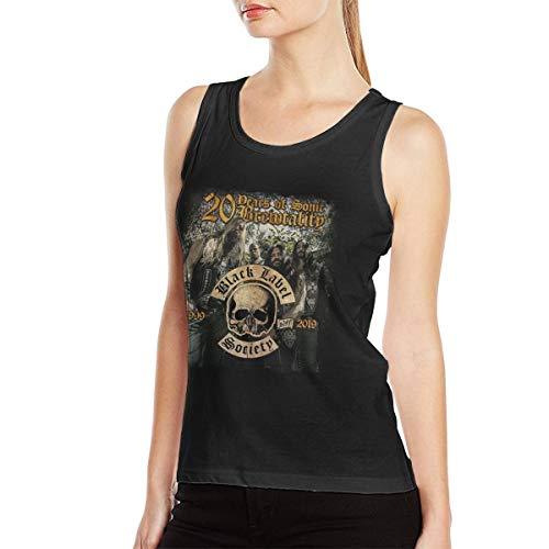 Black Label Society Fashion Sports Design Women's Premium Tank Top for Daily Life Sport (Black Label Society Jean Vest)