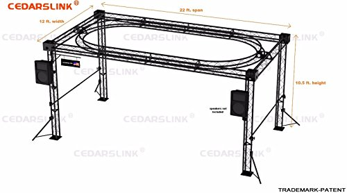Trade Show Booth, Trusses DJ Stage 22' X 12' X 10' Metal Truss Triangle Trusses With Inner Oval Truss