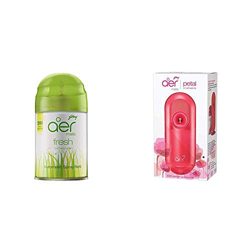 Godrej aer matic, Automatic Air Freshener Refill Pack – Fresh Lush Green (225 ml)