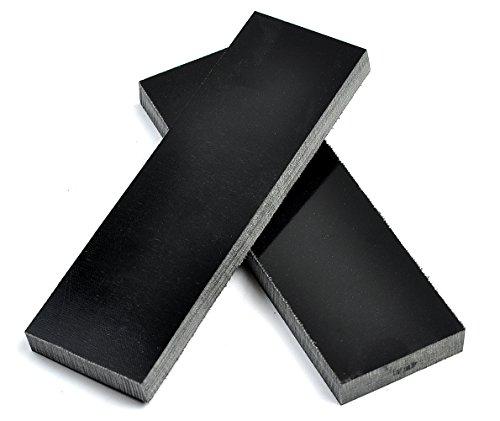 Black Linen Micarta Knife Handle Scales -- 5