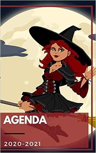 Halloween 2020 Jour Agenda 2020 2021: Agenda Journalier Sorcière fille Halloween chat