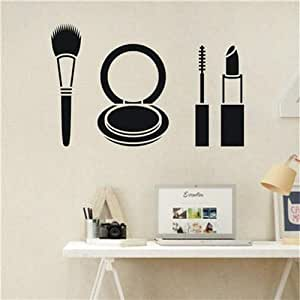Decorative Wall Sticker PVC Waterproof Simple Makeups Pattern Home Decals