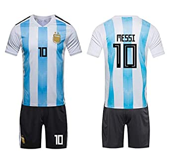 837eb1d24e4 2018 Russia World Cup Football Jersey Argentina Team No.10 Messi Football  suits Short-