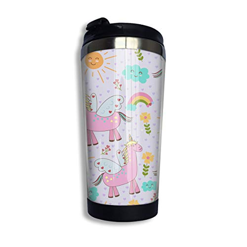 Coffee Thermos Cup Llama Pattern Stainless Steel Travel Mug Cup Water Bottle