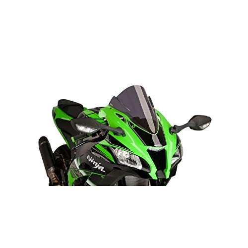 16-18 KAWASAKI ZX10R: Puig Racing Windscreen (3mm) (Dark Smoke)