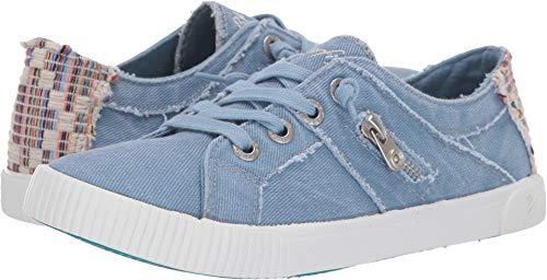 Blowfish Malibu Womens Fruit Sneakers, Baby Blue Hipster Smoke Canvas, 7 -