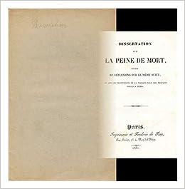 Dissertation sur la peine de mort