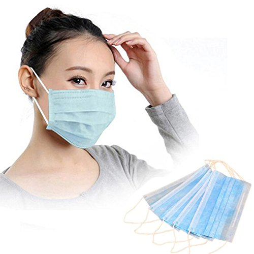 Romance8 50Pcs Disposable Filter Mask 3 Ply Earloop Medical Dental Surgical Hypoallergenic Breathability Comfort Breathable Beauty Medical Dust Mask - Winter Liner Ply