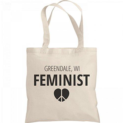 Feminist Greendale, WI Tote Bag: Liberty Bargain Tote - Group Greendale