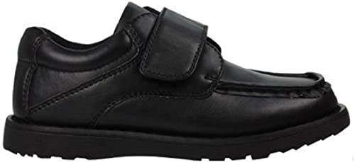 GladRags Boys Black School Shoes Hook
