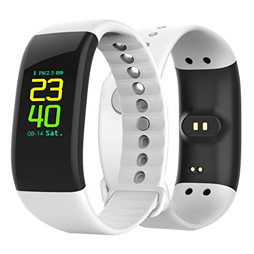 mijiaowatch Sport Smart Watch, FitnessTracker Waterproof Smart Bracelet with Heart Rate Monitor, OLED Color Screen Stopwatch, Sport Watches for Women Men Kids, Compatible with Android and iOS (White)