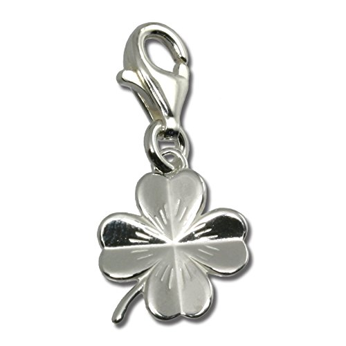 (SilberDream Charms shamrock 925 Sterling Silver Pendant Lobster Clasp FC502)