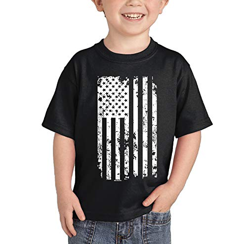 HAASE UNLIMITED White American Flag - Torn USA Infant/Toddler Cotton Jersey T-Shirt