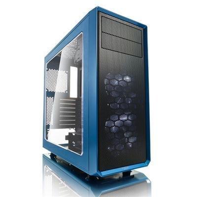 Fractal Design FD-CA-FOCUS-BU-W Focus G ATX Mid Tower Computer Case Petrol Blue